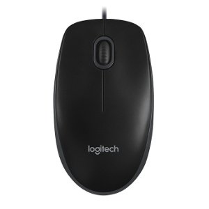Logitech Wired Mouse B100 - Black 1