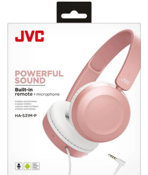 JVC HA-S31M Headphone Pink with Mic 2