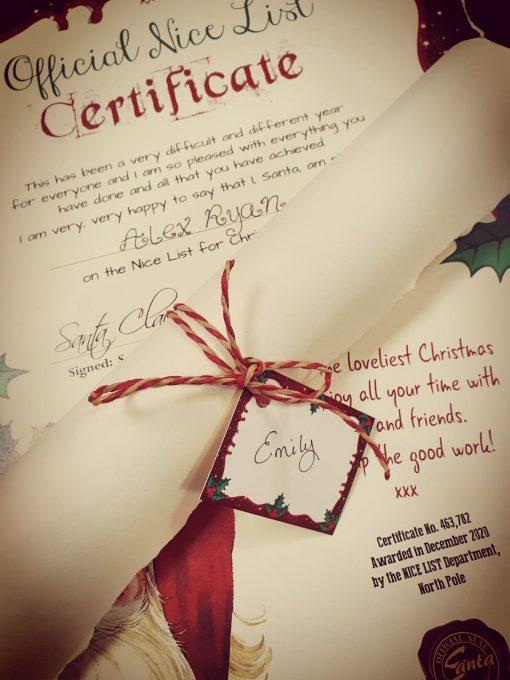 Official Nice List Certificate - A3 2