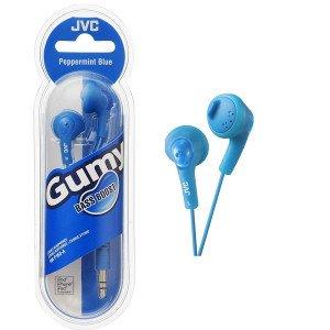 JVC Earphones HA-F160-A Gumy Earphones - Blue 1